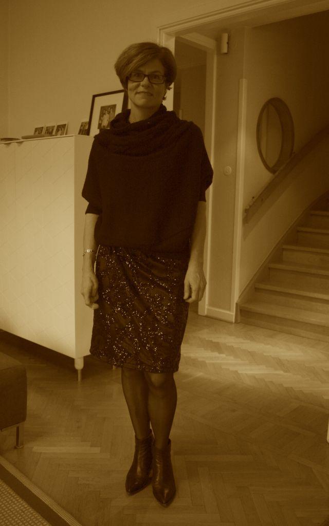 Glittery skirt Dec 2014