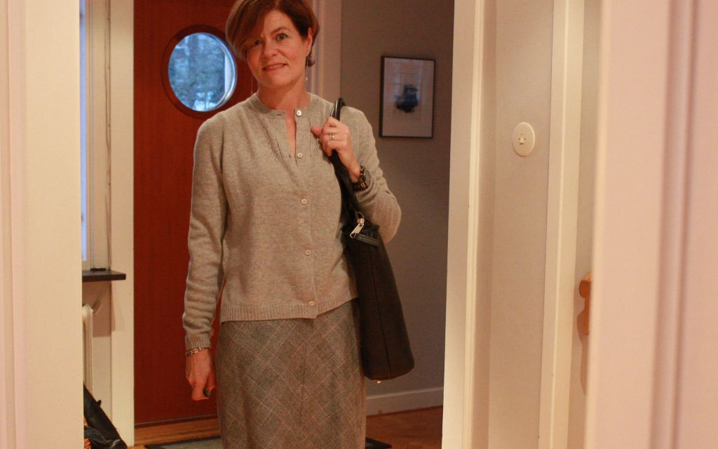 Grey soft cashmere cardigan
