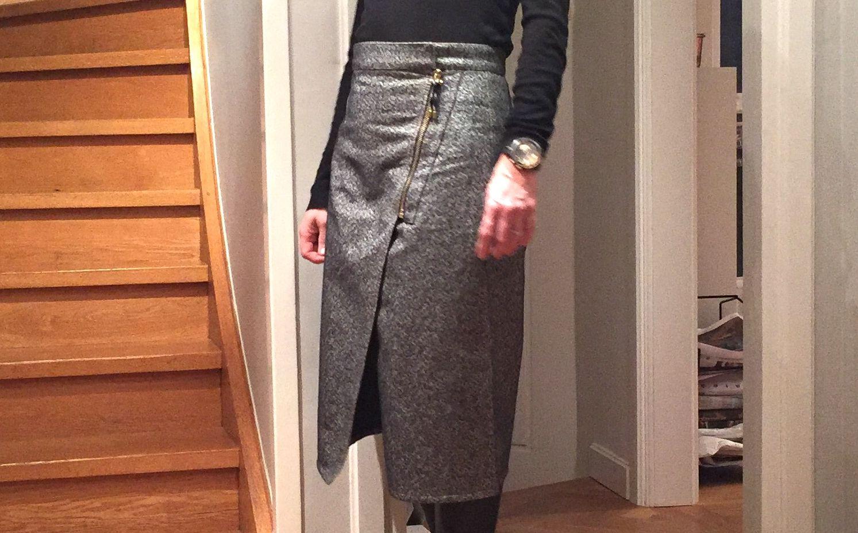 The golden zipper skirt #whydontyou