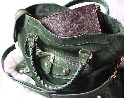 green suede handbag 1