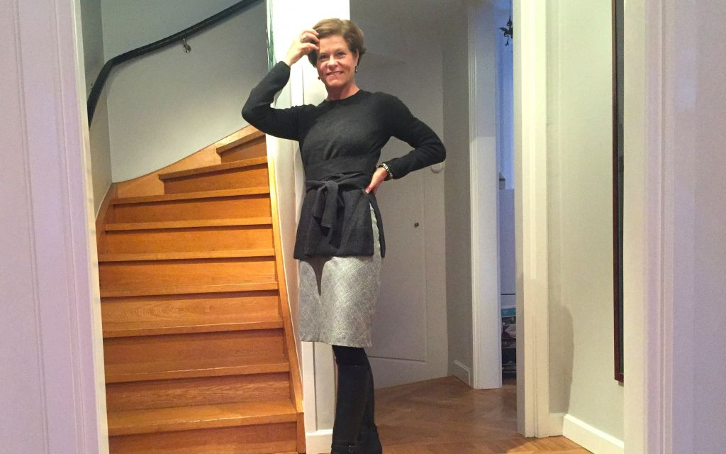 the wrap knit with a pencil skirt #whydontyou